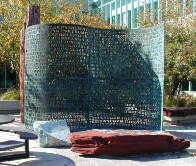 Kryptos sculpture