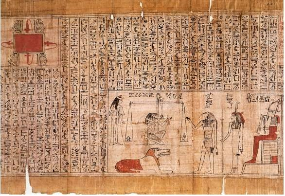 Egyptian writings on papyrus