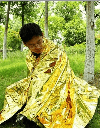 fire shelter made o gold foil