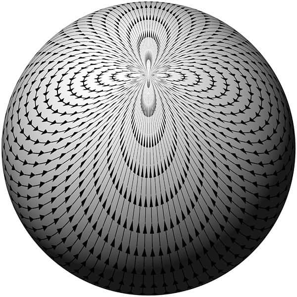 sphere with vector field