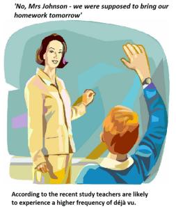 teachers often experience deja vu