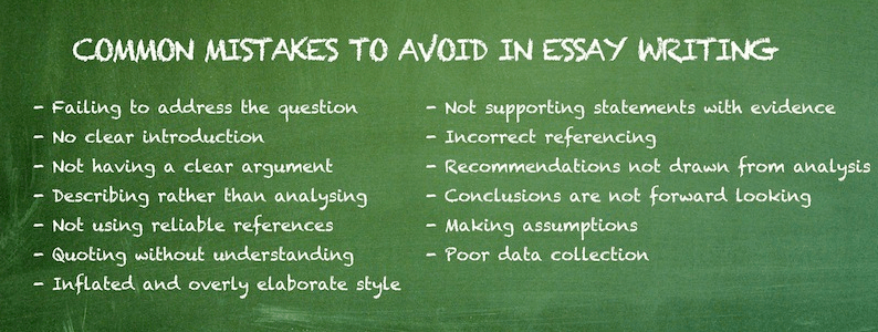 Common mistakes to avoid in essay writing Google Search