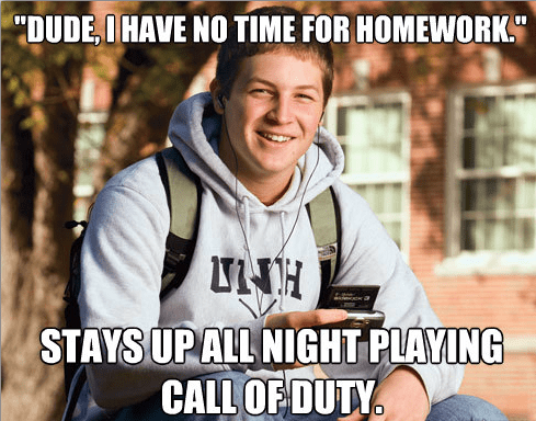 No time for homework