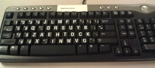 Right Handed Dvorak Keyboard