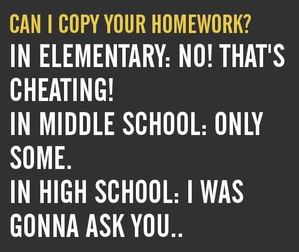 Copying Homework stages