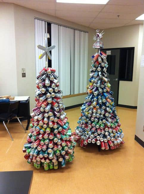 Beer cans Christmas tree