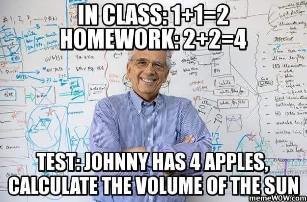 Class vs homework