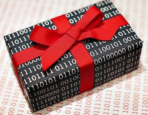 Geek wrapped present