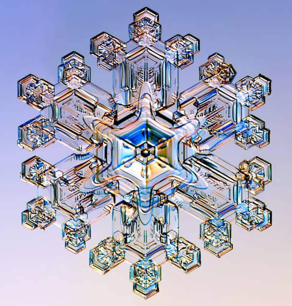 Snowflake is transparent
