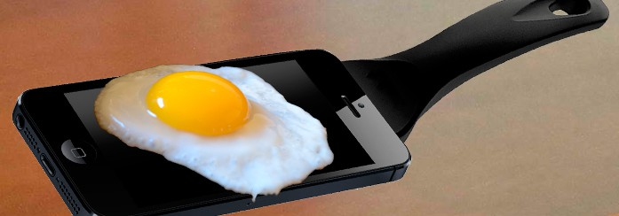 Egg on mobile phone