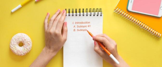 how to write a good outline
