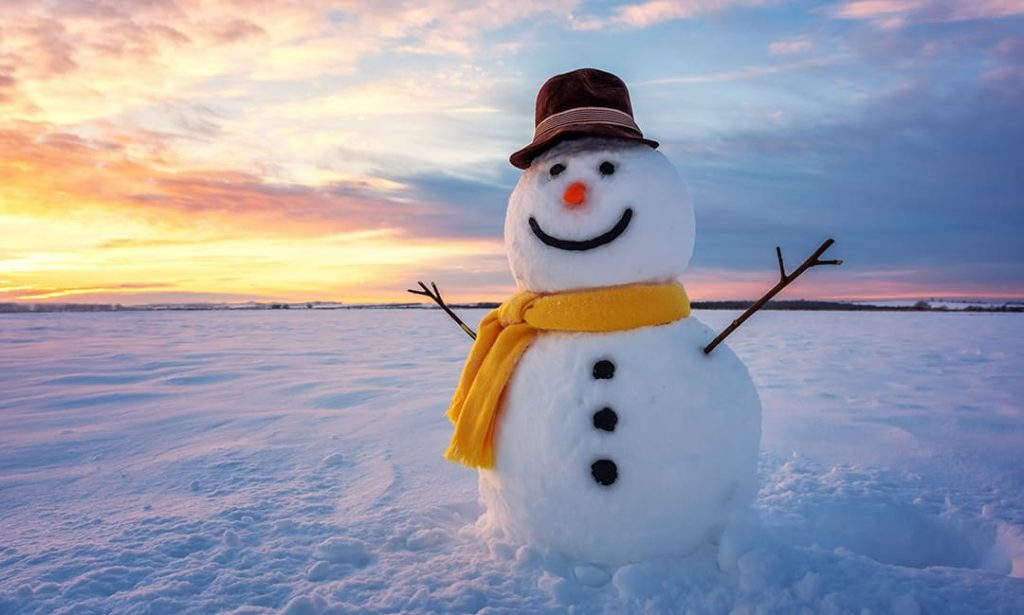 Winter break snowman
